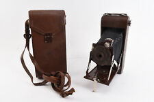 Pocket Kodak No 1A Series II Folding Camera With Case and Stylus RARE Brown V97