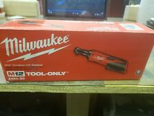 MILWAUKEE M12v Lithium-Ion Cordless 1/4'' Ratchet Tool-Only 2456-20 - New Sealed