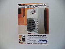 advertising Pubblicità 1984 DELONGHI DE LONGHI