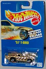 Hot Wheels 57 T Bird Ford Thunderbird BWs Blue Card Collector #190 Malaysia 1992
