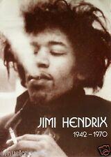 "Jimi Hendrix ""Jimi Smoking, 1942-1970"" U.K. Commercial Poster - Acid Rock Music"