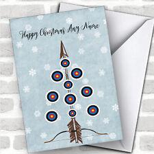 Archery Bow Arrow Target Tree Hobbies Customised Christmas Card
