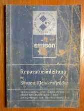 SIMSON S 50 + KR 51 + SR 4 - Orig. Reparaturanleitung (1977)