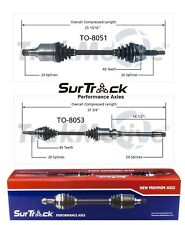 For Toyota Camry Highlander Solara 2.4L FWD 2 Front CV Axle Shafts SurTrack Set