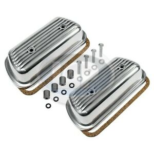 VW Bug Bus Ghia Bolt On Engine Valve Cover Set PAIR Finned Hardware & Gaskets