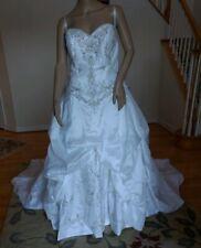c74728edab2 ALFRED ANGELO  1899 SAPPHIRE WHITE METALLIC SATIN BEADED GOWN WEDDING DRESS  16