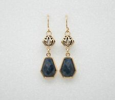 Barse Jewelry Dumortierite and Bronze Earrings