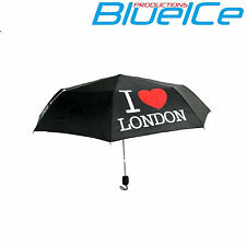 """I Love London"" Unisex Compatto Pieghevole Ombrello Brolly + COVER MINI BORSETTA"