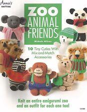 New ListingZoo Animal Friends Amigurumi Knitting Patterns Koala Kangeroo Bear + Annie's New