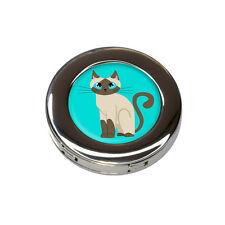 Cute Siamese Cat Foldable Retractable Purse Bag Handbag Hook Hanger Holder