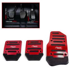 Red Aluminum Alloy Non-Slip Pedals Pad Cover Car Auto Interior Decor Accessories
