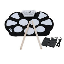 Folding Hand Roll Up Silicone Kids Electronic Drum Percussion Instrument V3T6