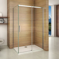 1100x760mm Frameless Sliding Shower Enclosure Glass Screen Door Side Panel BR