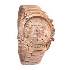 NUOVO MICHAEL KORS MK5263 ROSE ORO Blair Dial Ladies Watch - 1 anni di garanzia
