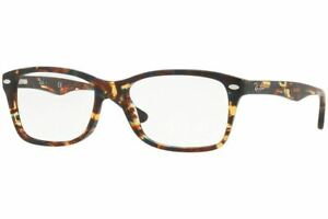 Ray Ban Designer Reading Eye Glasses RX5228F-5711-55 Spotted Blu/Brown/Yellow 55