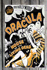 *ON STAGE DRACULA IN HOUSE OF THE LIVING DEAD SPOOK SHOW POSTER REPRINT#11*