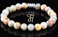 Marmor Achat Armband Bracelet Perlenarmband Buddha 8mm