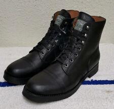 New $240 Polo Ralph Lauren Enville Black Leather Men's Combat Boots (Size: 8.5M)