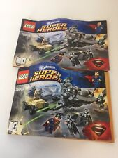 Lego 76003 Superman Battle of Smallville Instruction Manuals 1 2 Booklets ONLY