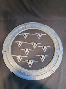 "Stargate SG-1 Chevron Model Kit (Stargate Model) Silver Finish 18"" Diameter"