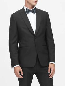 Banana Republic Slim BLACK Italian Wool Tuxedo Jacket only  38S NWT #512818