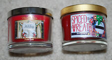 Mini Candles Bath Body Works Spiced Wreath White Barn Christmas Holiday Scents