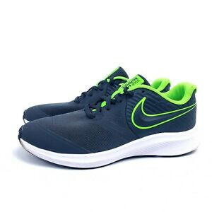 Nike Star Runner Youth 6Y Shoes AQ3542-004 Anthracite Neon Green Sneaker Boys