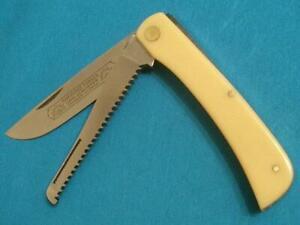 VINTAGE'70S SCHLIEPER EYE BRAND GERMANY 99YSOD BUSTER FOLDING HUNTER KNIFE W/SAW