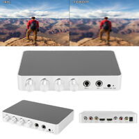 4K Mini HDMI Karaoke Sound Mixer Dual Microphone Volume Adjustment for Stage KTV
