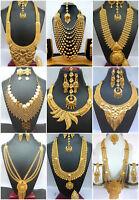 Indian 22K Gold Plated Variation Neckalce Earrings Bridal Gorgeous Set SALE ,,,