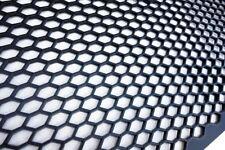 ALFA uni noir en plastique ABS Racing course en nid d'abeille maille grill spoiler pare-chocs vent