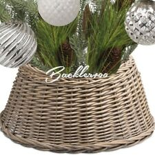 Large WICKER TREE SKIRT decorative tree plant base cover rustic natural