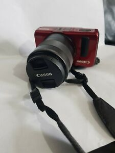 Canon EOS M Mirrorless Red Camera + Canon EF-M 18-55mm IS STM Lens Kit -