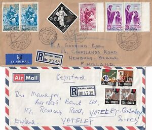 YY4530 Malta 12 different Reg Express covers  air UK; 1960 - 2013