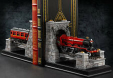 Extremely Rare! Harry Potter Hogwarts Express Train Figurine Bookends Statue Set