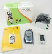 LG C1300 Silver AT&T Cingular Talk Text Flip Cell Phone GSM BRAND NEW IN BOX