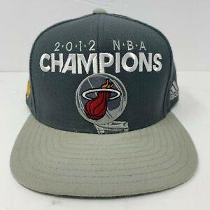 Miami Heat 2012 NBA Champions Snapback Hat adidas Official Locker Room Cap