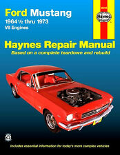 Ford Mustang Haynes Manual 1964 - 1973 1965 1966 1967 1968 1969 1970 1971 1972
