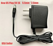 """DC 5V 2A Power Adapter AC 110v/220v - 5.5/2.5mm Power Supply Wall Charger 60"""""""