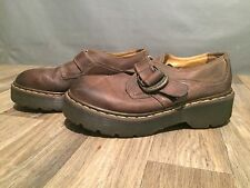 Doc Dr. Martens 8314 Brown Leather Buckle Shoe Men UK 8 or US 9 MADE IN ENGLAND!