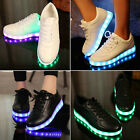 Unisex 2017 LED Light Lace Up Luminous Sportswear Sneaker Men Women Casual Shoes