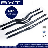 Carbon Fibre MTB Mountain Bike Handlebar Bicycle Flat Riser Bar 31.8*620-720mm
