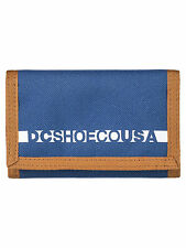 DC SHOES MENS WALLET. RIPSTOP 2 BLUE TRIFOLD MONEY NOTE CARD PURSE 7W 3112 BSA0