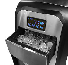 Touch Screen Stainless Steel Portable Ice Maker Countertop Home IceCube Machine