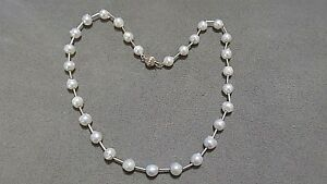 """NWOT Ross-Simons Natural 8mm Baroque Cultured Pearl 16"""" Tin Cup 14K Necklace"""