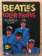 THE BEATLES BUBBLE GUM PACK BAZOOKA COLOR PHOTOS