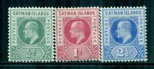 CAYMAN ISLANDS 3-5 SG3-5 MH 1902-03 KEVII short set of 3 Wmk Crown CA Cat$30