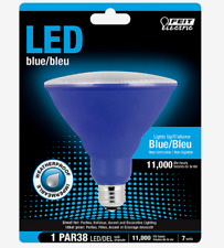 FEIT Electric BLUE LED Bulb PAR38 E26 Medium 40 Watt Equivalence Weatherproof