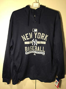 New York Yankees Authentic Collection Team Property Hooded Fleece by Majestic XL
