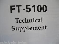 Yaesu ft-5100 (Genuino Suplemento técnico sólo)....... radio_trader_ireland.
